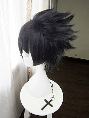 new neu Naruto Uchiha Sasuke Cosplay Perücke wig costum long lange version v.2