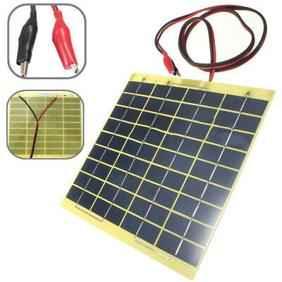 5Watt Solarpanel 12V 5W Solarmodule Outdoor Battery Charger with Battery Clips