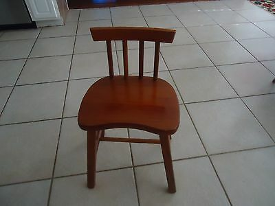 Vintage Mission Style Childs Solid Wood Kitchen Chair