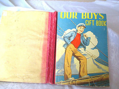 OUR BOYS GIFT BOOK vintage annual HC 1930s illustrated STORIES incl  F.W. Gumley