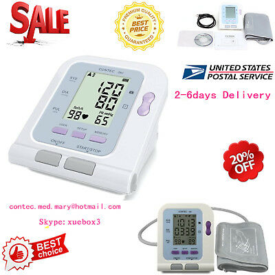 US Blood Pressure Full Automatic Digital Upper Arm Pulse Blood Pressure Monitor,