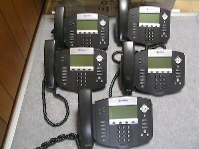 LOT OF 5  Polycom SoundPoint IP550 IP phone