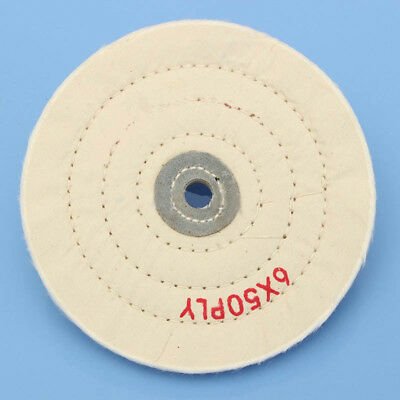 150mm Cotton Cloth Polishing Buffing Wheel Power Buff Angle Grinder Rotary Tool