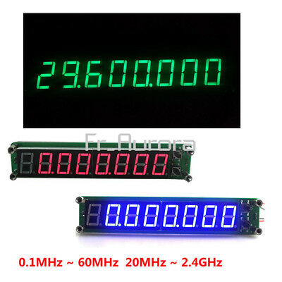 0.1-60MHz 20MHz~2.4GHz RF Signal Frequency Counter Cymometer Tester LED Display