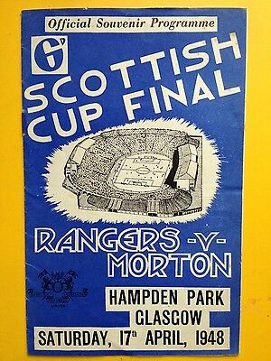 RANGERS v MORTON Scottish Cup Final 1948