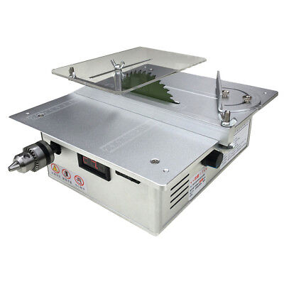 Dual Motor Table Saw Woodworking Desktop Saw Table Cutting Machine with Adapter
