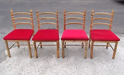 Set Of 4 Vintage Stag Chairs  Repolished   Delivery Available