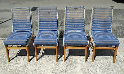 Set Of 4 Vintage Retro Chairs For Reupholstery     Delivery Available