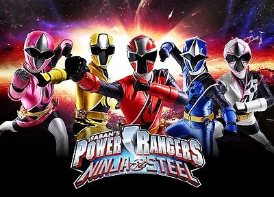 Unofficial POWER RANGERS NINJA STEEL (10) *A3* print Poster - Dino charge