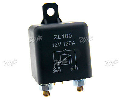 Car Auto 12V 120A 2 Pin Heavy Duty ON-OFF Switch Split Charge Relay Boat Vans