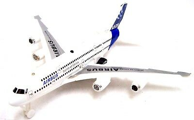 Pull Back Plane Toy Plan Toy Aeroplane Friction Powered + Light & Sound 16cm New
