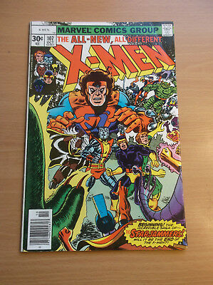 Marvel: The X-Men #107, 1St Appearance Of Imperial Guards/starjammers, 1977, Fn-
