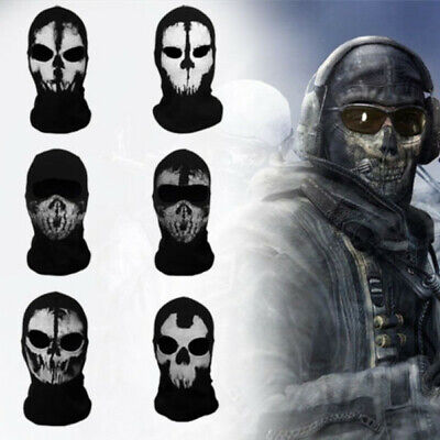 Maske For Call of Duty 6 Ghost Sturmhauben COD Schädel Hood Biker Kostüm Mask