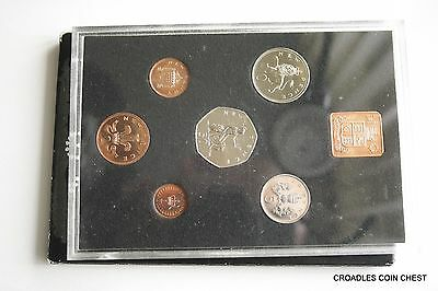 1971 Proof Set English Royal Mint Cased With  Scruffy Outer Sleeve #2