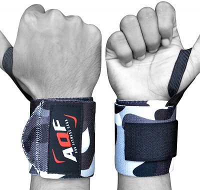 BEST Weight Lifting Wrist Wraps Gym Straps Brace Bandage Hand Support Elastic