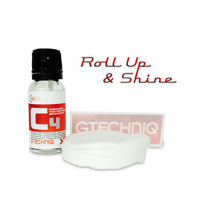 Gtechniq C4 Permanent Trim Restorer 15ml Up to 2 Yr & 10 Free AP1 Applicators
