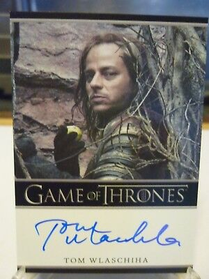 Tom Wlaschiha As Jaqen H'ghar Game Of Thrones Season 5 Auto Autograph On Card