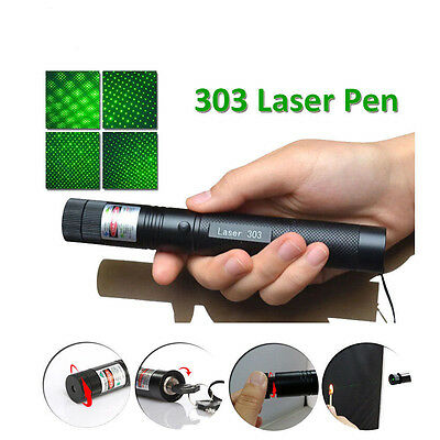Adjustable 303 Green Laser Pointer Lazer Pen Beam Light Focus 532nm 1mw