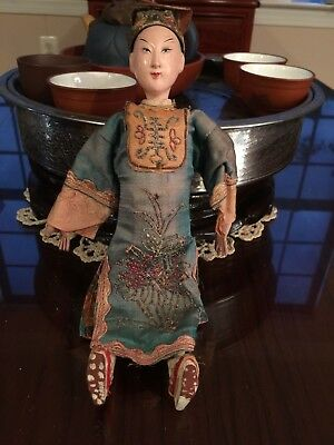 Antique Chinese opera male doll