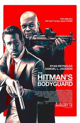 "006 THE HITMANS BODYGUARD - Ryan Reynolds Action 2017 USA Movie 14""x21"" Poster"