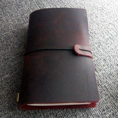 A5 Maotu Vintage Genuine Leather Notebook Diary For Travel Journal Planner BT