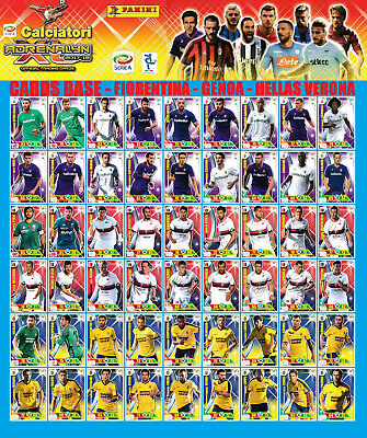 Adrenalyn Xl Panini 2017-18 2017 2018 - Card Base Fiorentina Genoa Hellas Verona