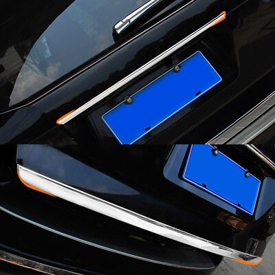 For Renault Captur Chrome Rear Trunk Cover Sticker Tailgate Door Trim Styling