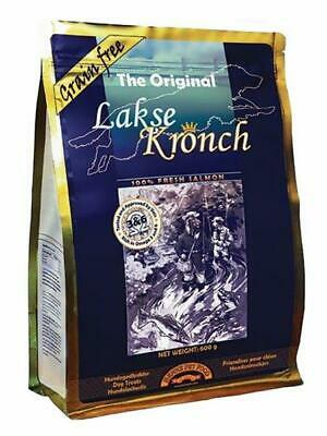 "(14,98 EUR/kg) Henne Pet Food Leckerlies Hunde Lakse Kronch ""Das Original"" 600g"