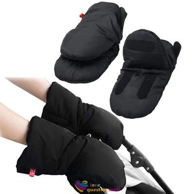 Baby Pram Gloves Pushchair Stroller Winter Warm Hand Fingerless Handle Muff