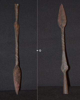 African spear head with twisted stem