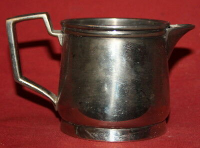 Antique art deco silver plated alpacca creamer jug