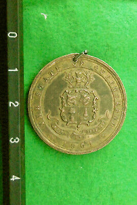 1901 state of Queensland Federation medallion.