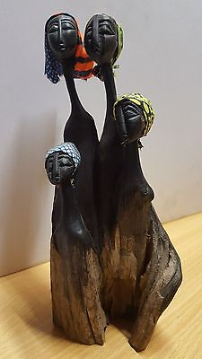 VINTAGE HANDCRAFTED AFRICAN TRIBAL WOMAN ORNAMENT, 23cm