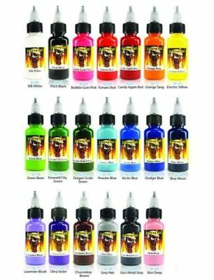 SCREAM TATTOO INK 20-PACK Color Set 12-oz Bottles Black Bright Vibrant Supply