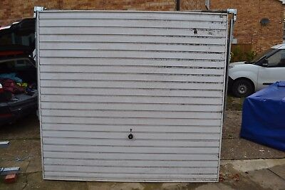 """Two (2) White Garage Door 211cm x 196.5cm 7'0"""" x 6'6"""" Rushden Delivery Available"""