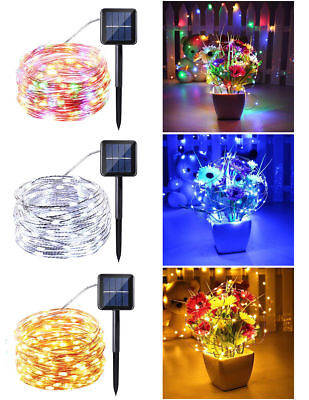 Solar Powered 10M/33FT 100LED Copper Wire Outdoor String Fairy Light Home Decor