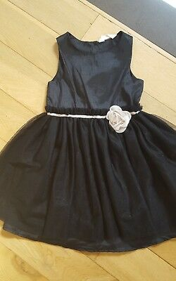 Girls H&M party dress age 6 to 7 sparkly black
