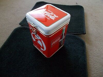 Coca-Cola Collectible Tin Straw Holder with 50 Straws