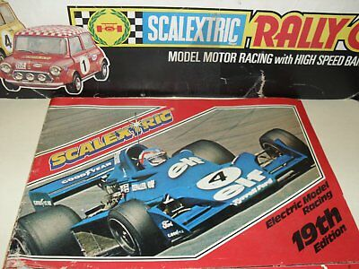 scalextric magazine c502 catalouge edition 19 1978