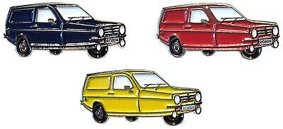 Reliant Robin Enamel Badge Set of Blue Yellow & Red Car Badges New 25mm