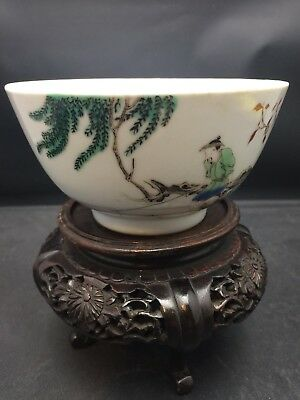 Antique Chinese WuCai Bowl 19/20th Century