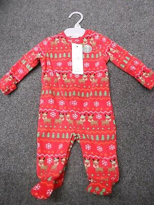 F&F Babies Christmas Fleece Sleep suit Reindeer
