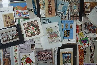 Job Lot Vintage Nordic Embroidery Tapestry Hardanger Patterns Charts Booklets