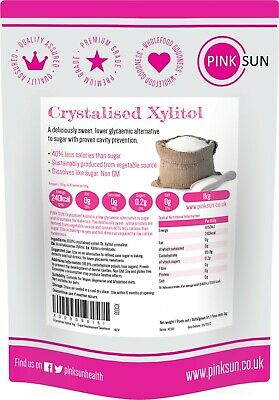 Xylitol 1kg, 3 or 5kg Natural Sugar Free Sweetener Non GMO sustainable sources