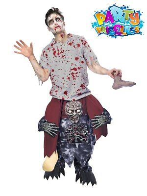 Adult Piggyback Zombie Costume Halloween Piggy Back Funny Fancy Dress Outfit