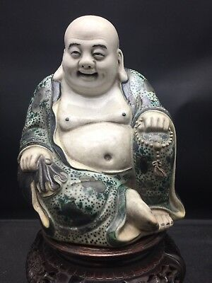Antique Chinese SuSanCai Buddha 19/20th Century