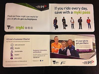 Victorian Railway PTV V/Line Myki Ticket Wallets