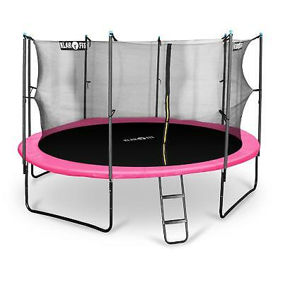 PINK 14FT JUMPING TRAMPOLINE RAIN COVER SAFETY NET 150kg CHILDREN BOUNCER