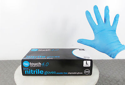 Box 100 Large Nitrile Powder Free Latex Free Disposable Gloves Surgical Tattoo