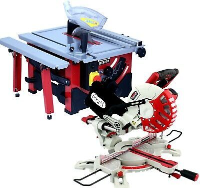 "Lumberjack 210mm Bench Top Table Saw & 8"" Sliding Compound Mitre Saw 240v"
